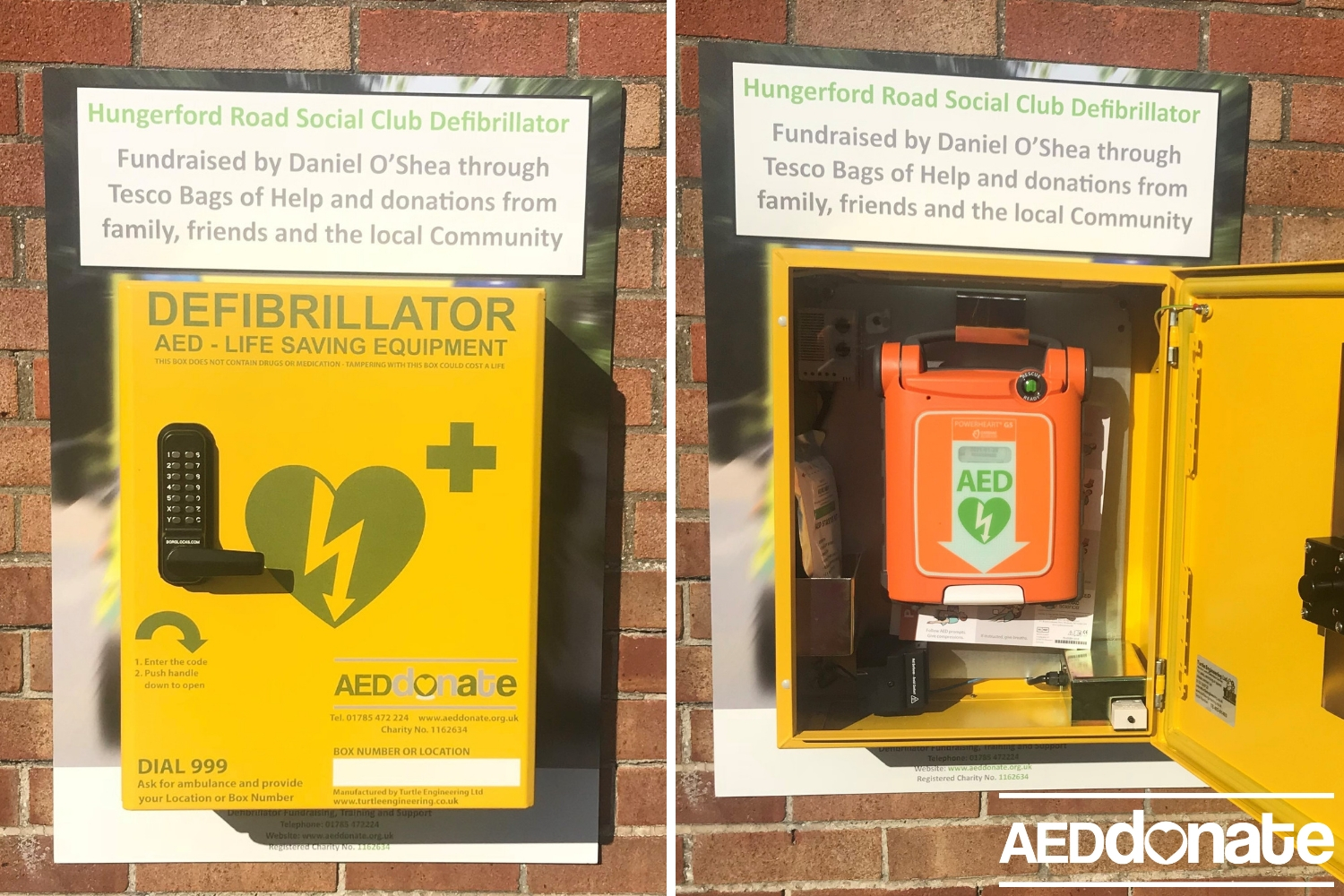 Hungerford Road Defibrillator Installed