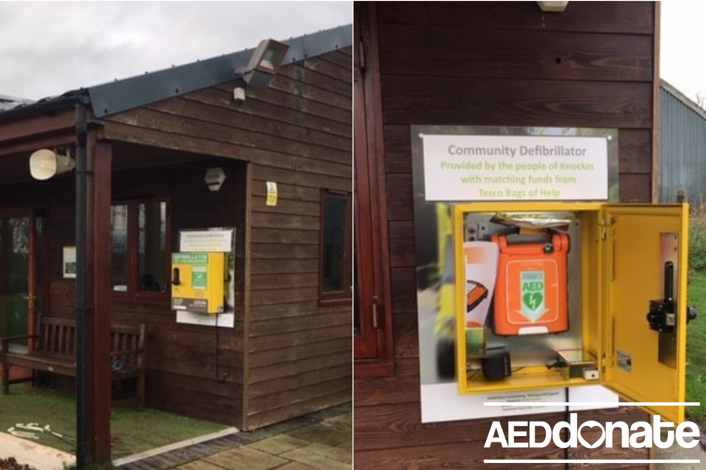 Knockin Cricket Club install Defibrillator