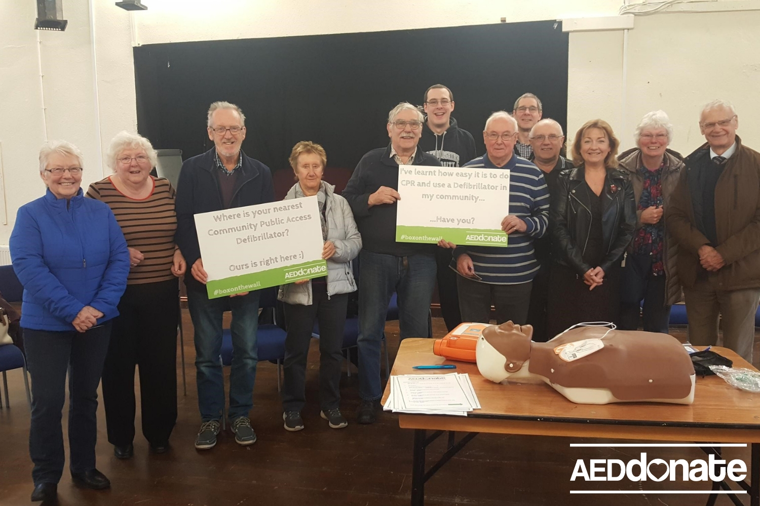 Charity shop funds community awareness session