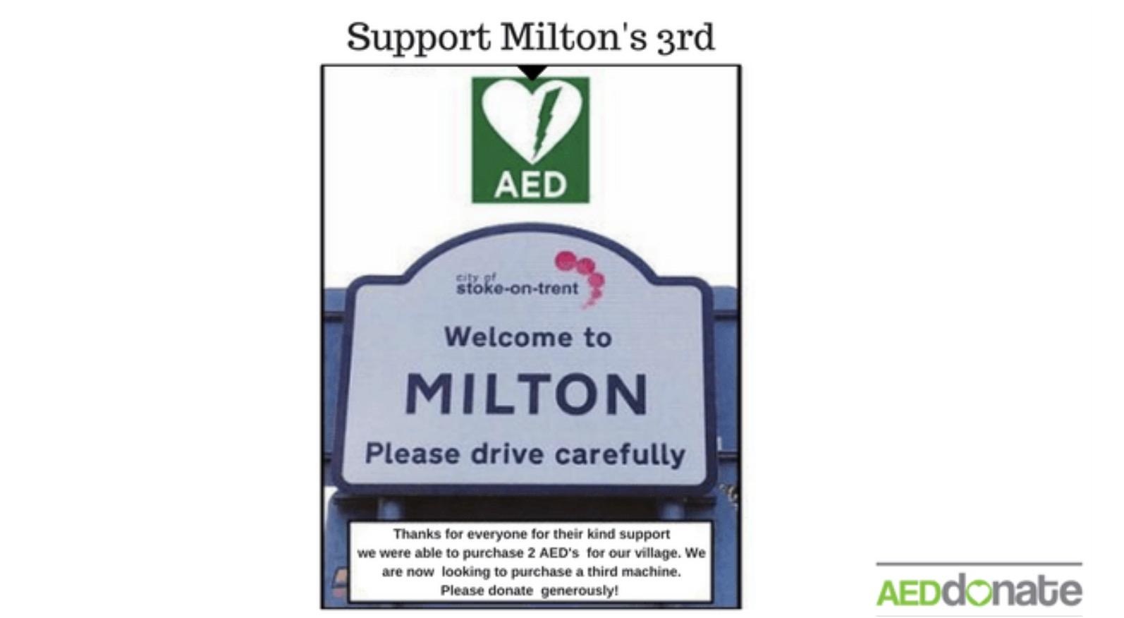 Milton Village 3rd Defibrillator Campaign