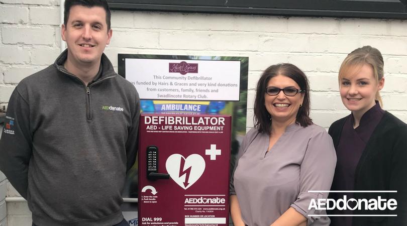 Defibrillator Installed at Hair Salon in Swadlincote