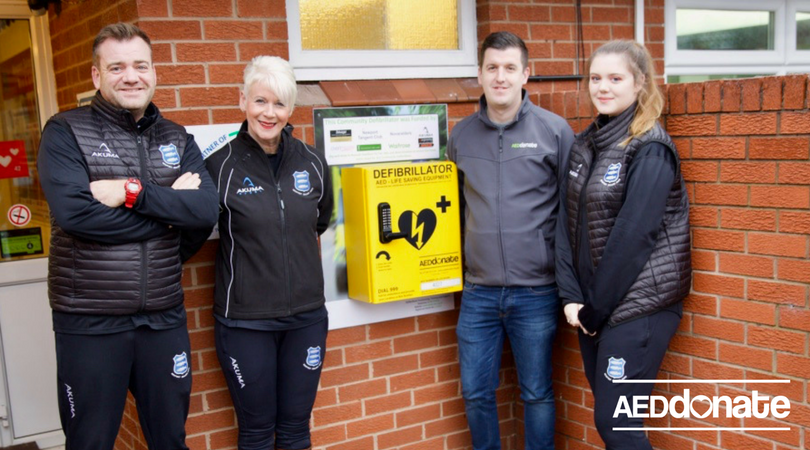 Defibrillator Installed at Newport Salop Rugby Club