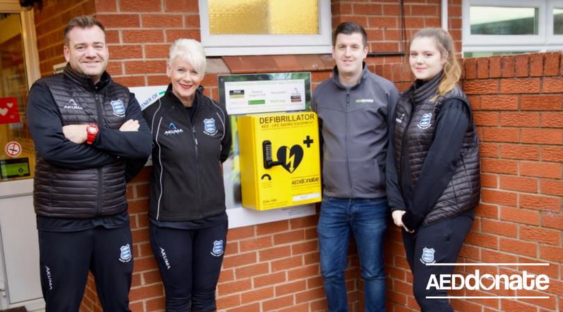 Defibrillator Installed at Newport Salop Rugby Club