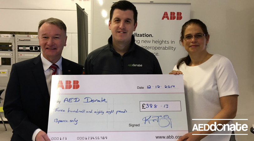 ABB Supports Lifesaving Charity AEDdonate