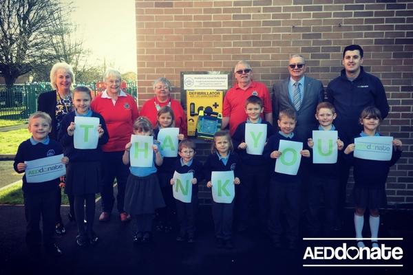 Defibrillator Installed at Pirehill First School, Walton, Stone