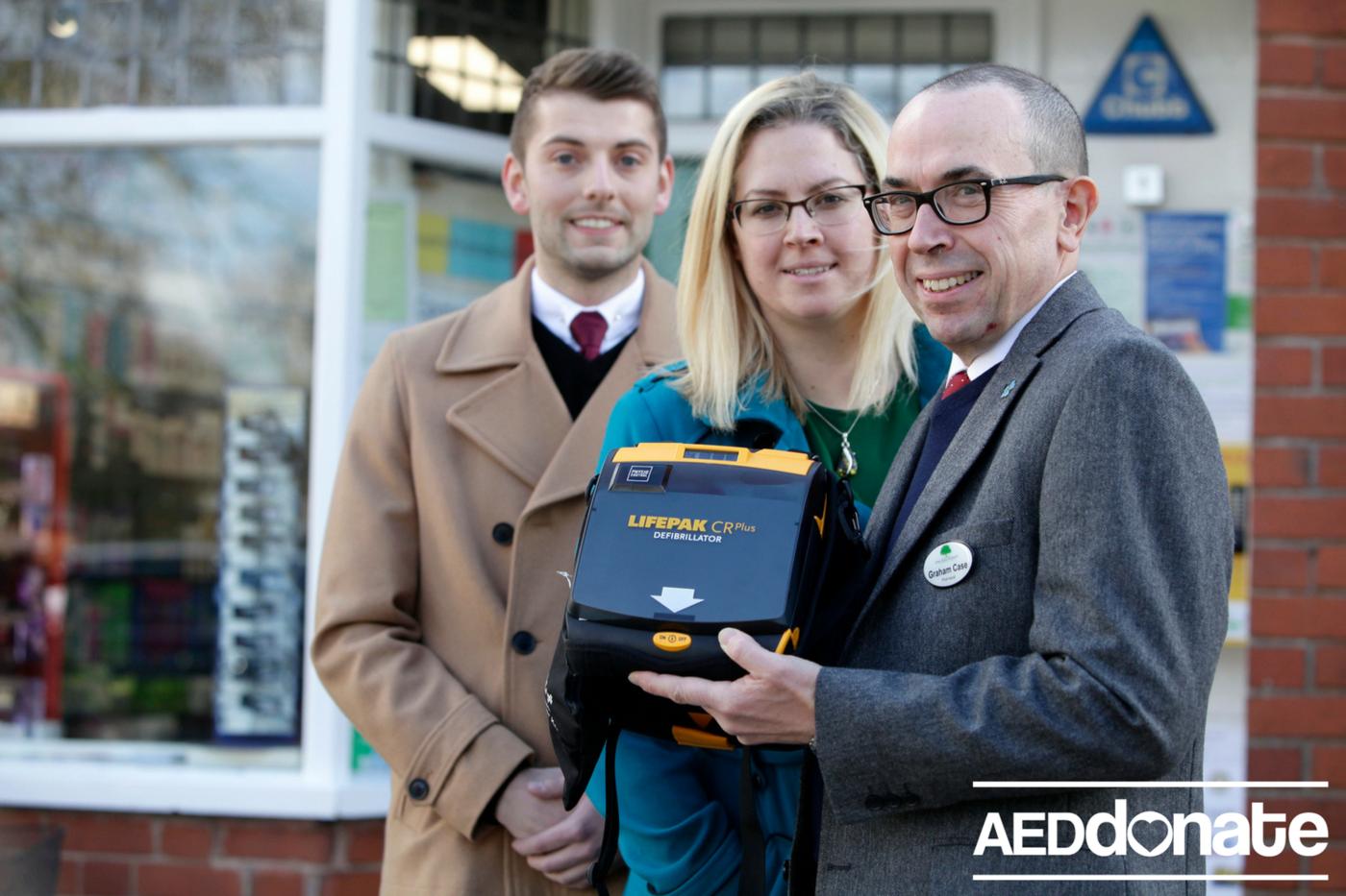 Defibrillator installed in Tettenhall in memory of Alex