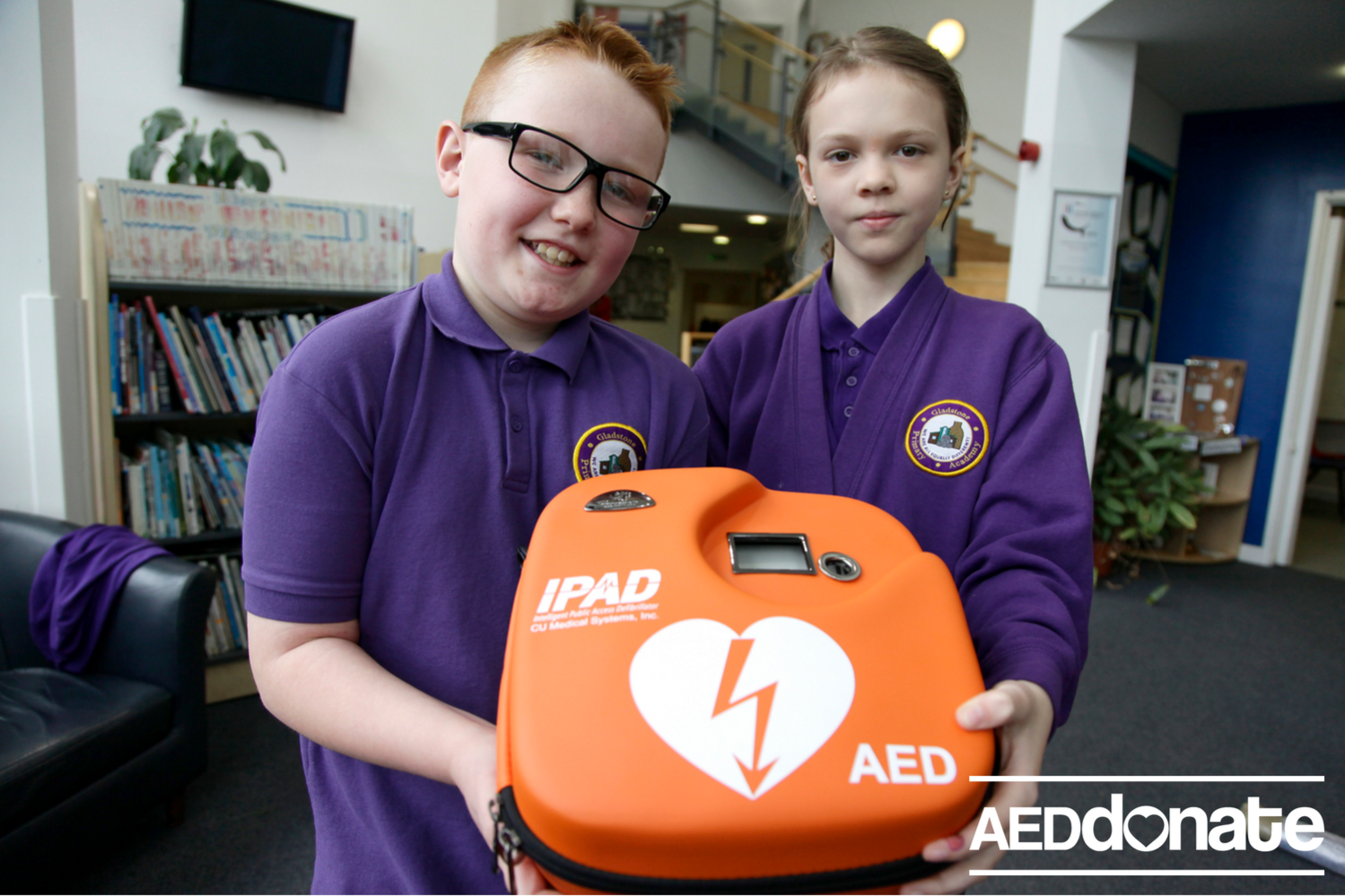 Defibrillator installed at Gladstone Primary Academy, Stoke-on-Trent