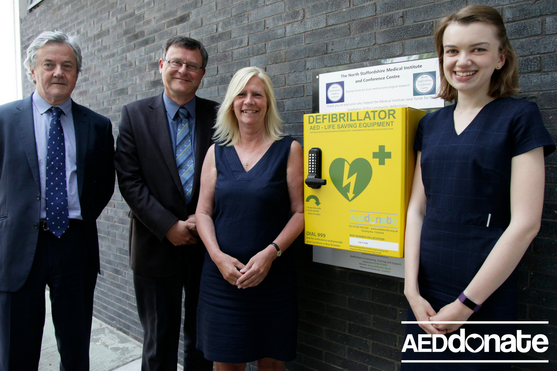 Defibrillator Installed at North Staffordshire Medical Institute
