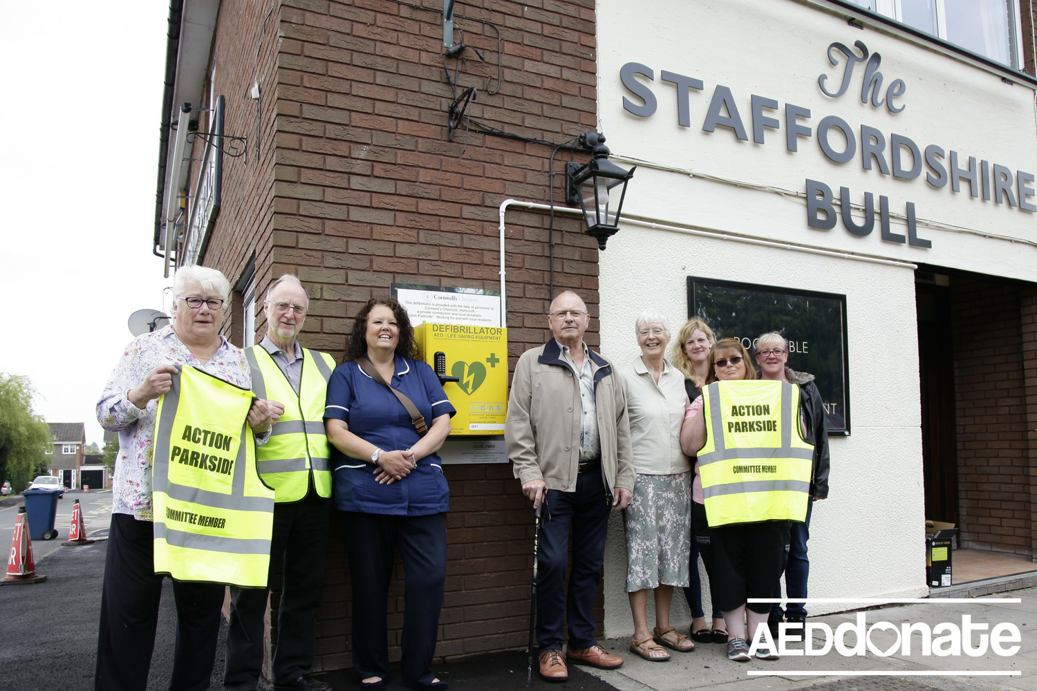 Action Parkside Fundraise for Defibrillator at Local Pub