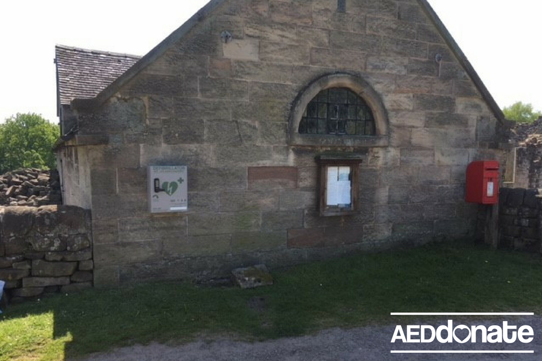 Defibrillator installed at Croxden Abbey