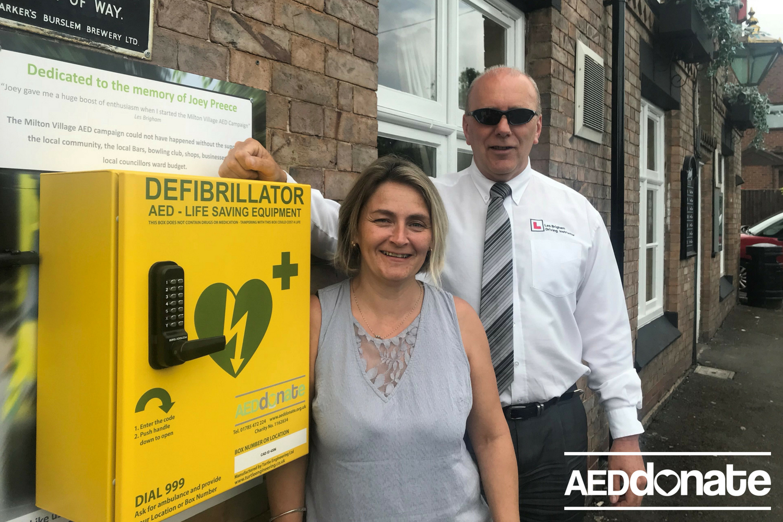 Third Defibrillator installed in Milton, Stoke on Trent