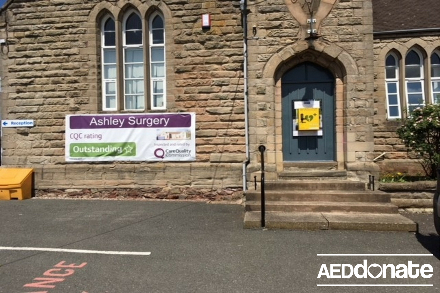 Defibrillator Installed at Ashley Surgery
