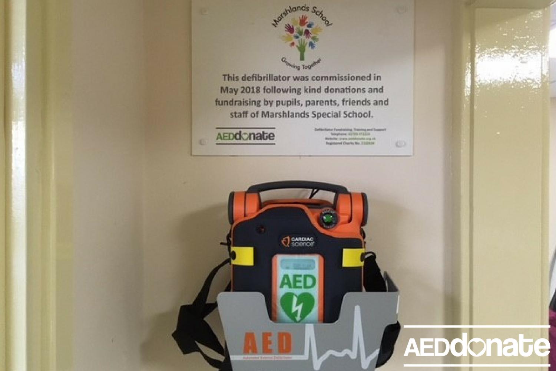 Defibrillator Installed at Marshlands School, Stafford
