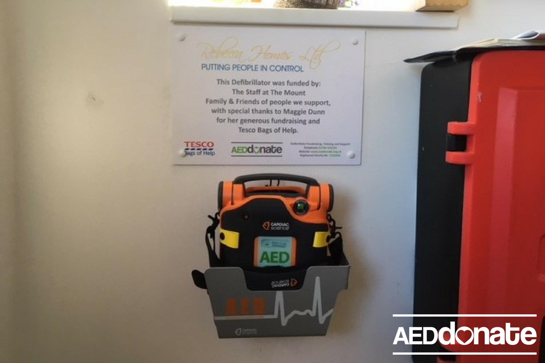 Defibrillator Installed at Rebecca Holmes