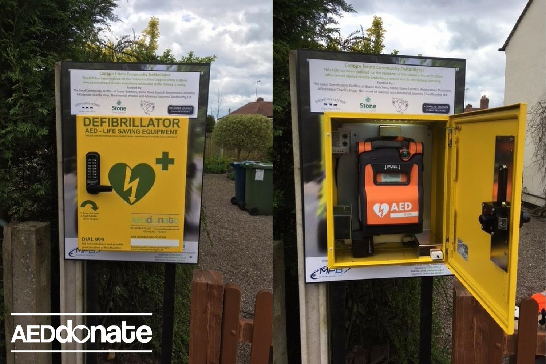 Coppice Estate has Defibrillator Installed