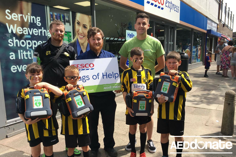 Weaverham install 5 AEDs