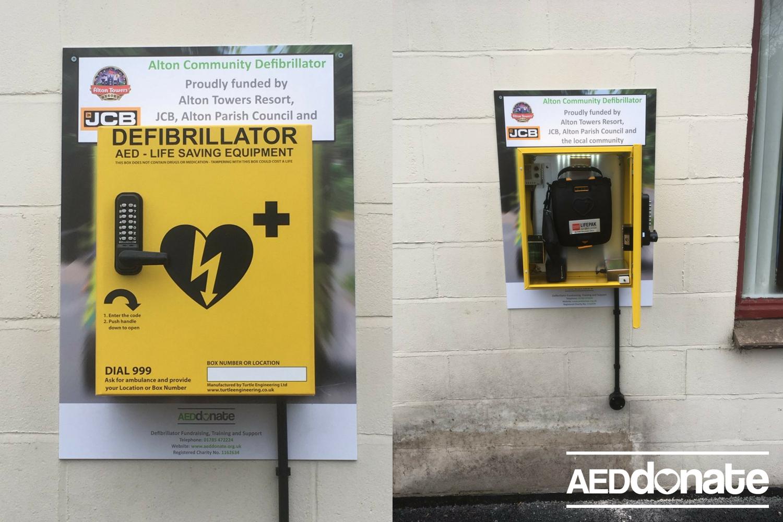 Alton Village Hall has defibrillator Installed