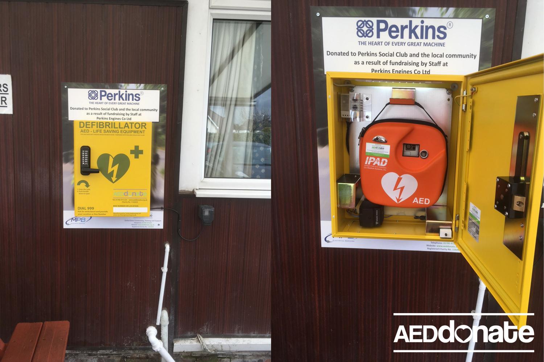 Perkins Social Club Install AED