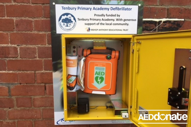 Defibrillator Installed at Tenbury Primary Academy