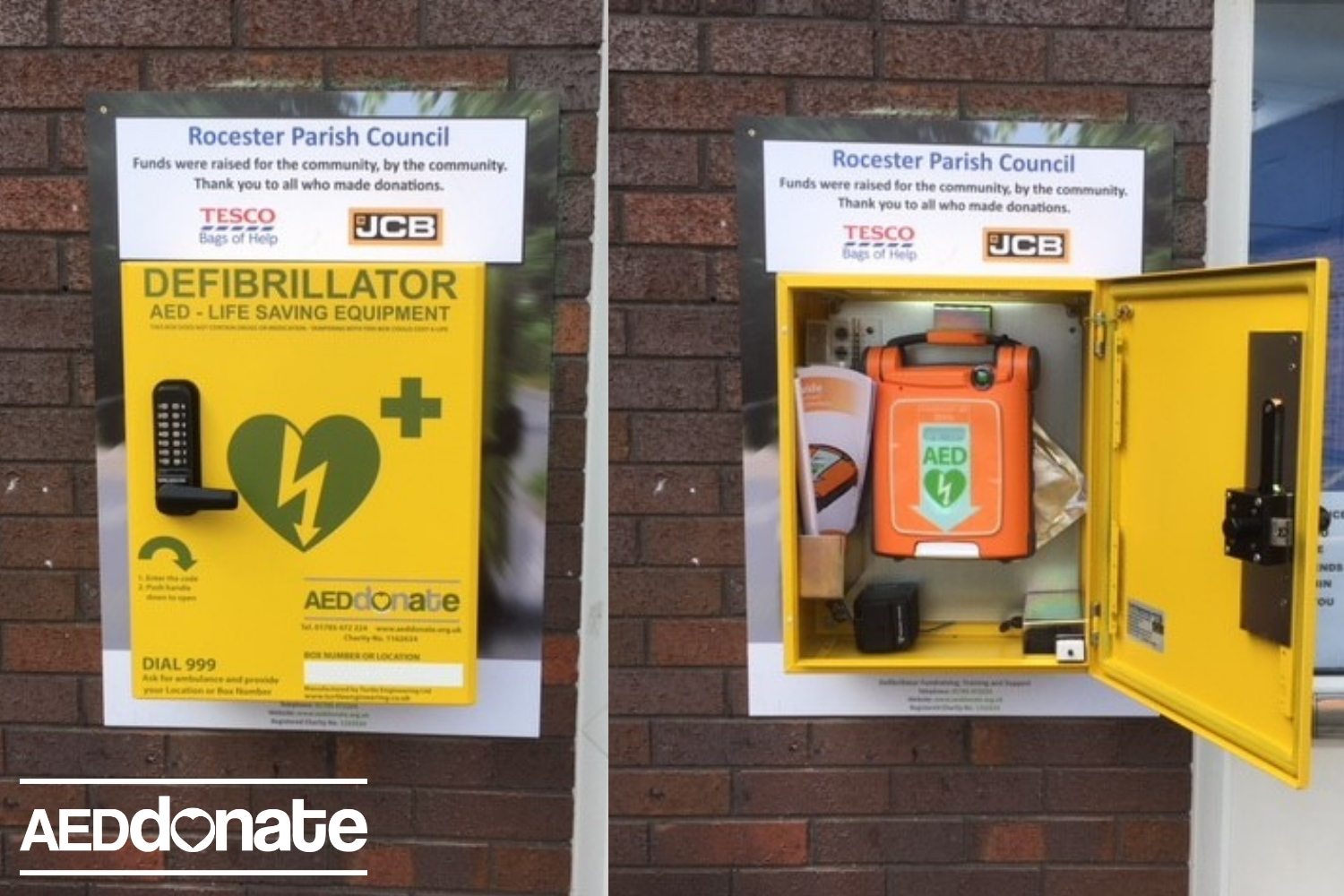 Rocester Village Hall install life-saving AED