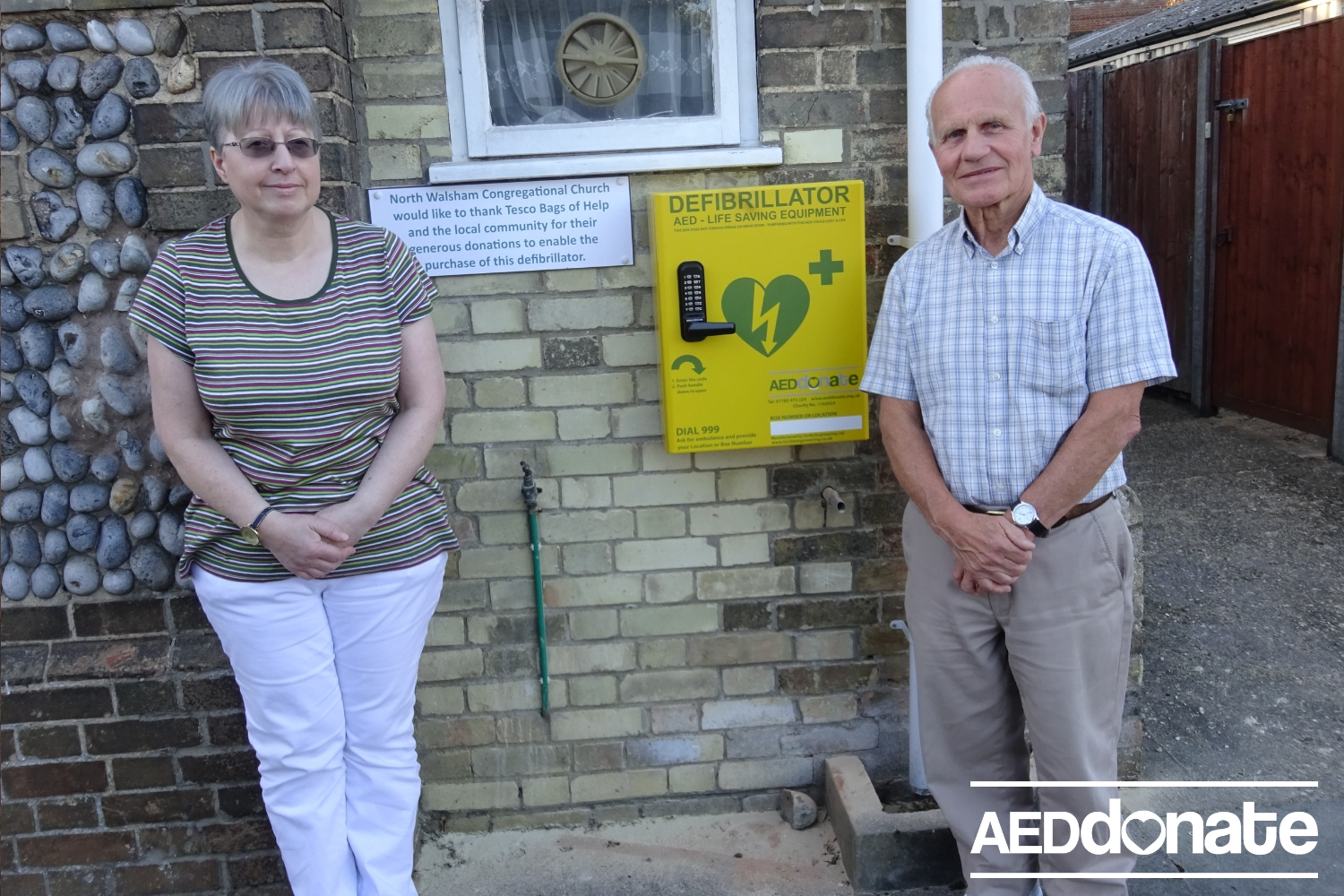 AED Installed at North Walsham Congregational Church