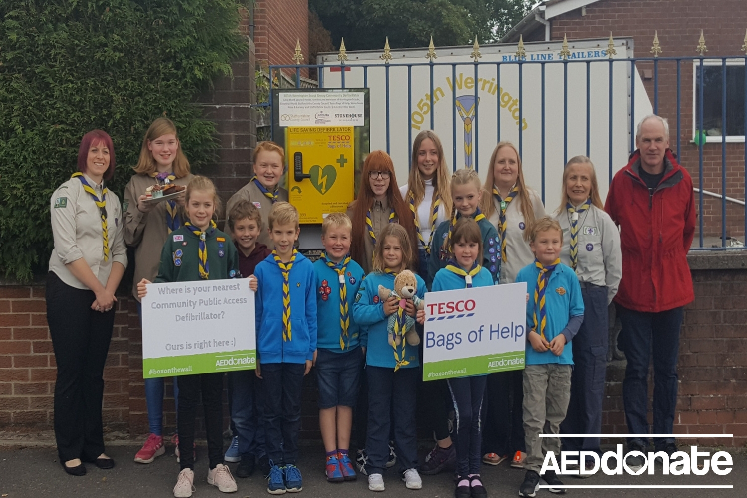 Werrington Scouts install Life-saving AED