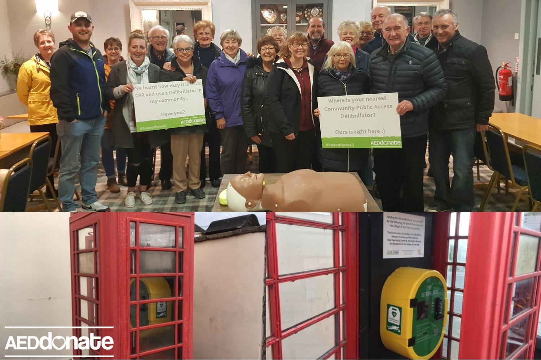 Phone Box houses life-saving equipment in Scot Hay