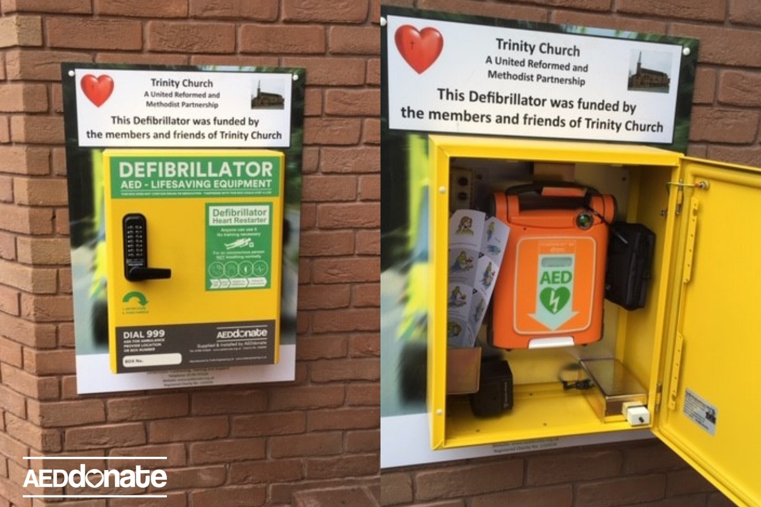 Trinity Church in Stafford has life-saving equipment installed