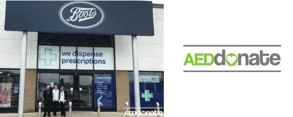 Boots Store Queens Retail Park Stafford Defibrillator Campaign