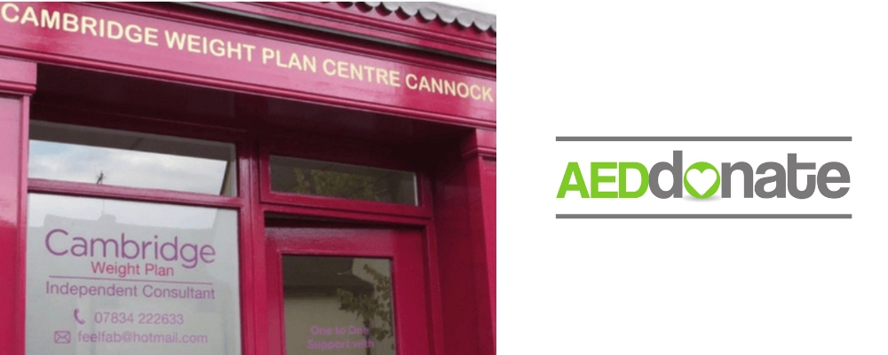 The 1:1 Diet by Cambridge Weight Plan, Cannock Defibrillator Campaign