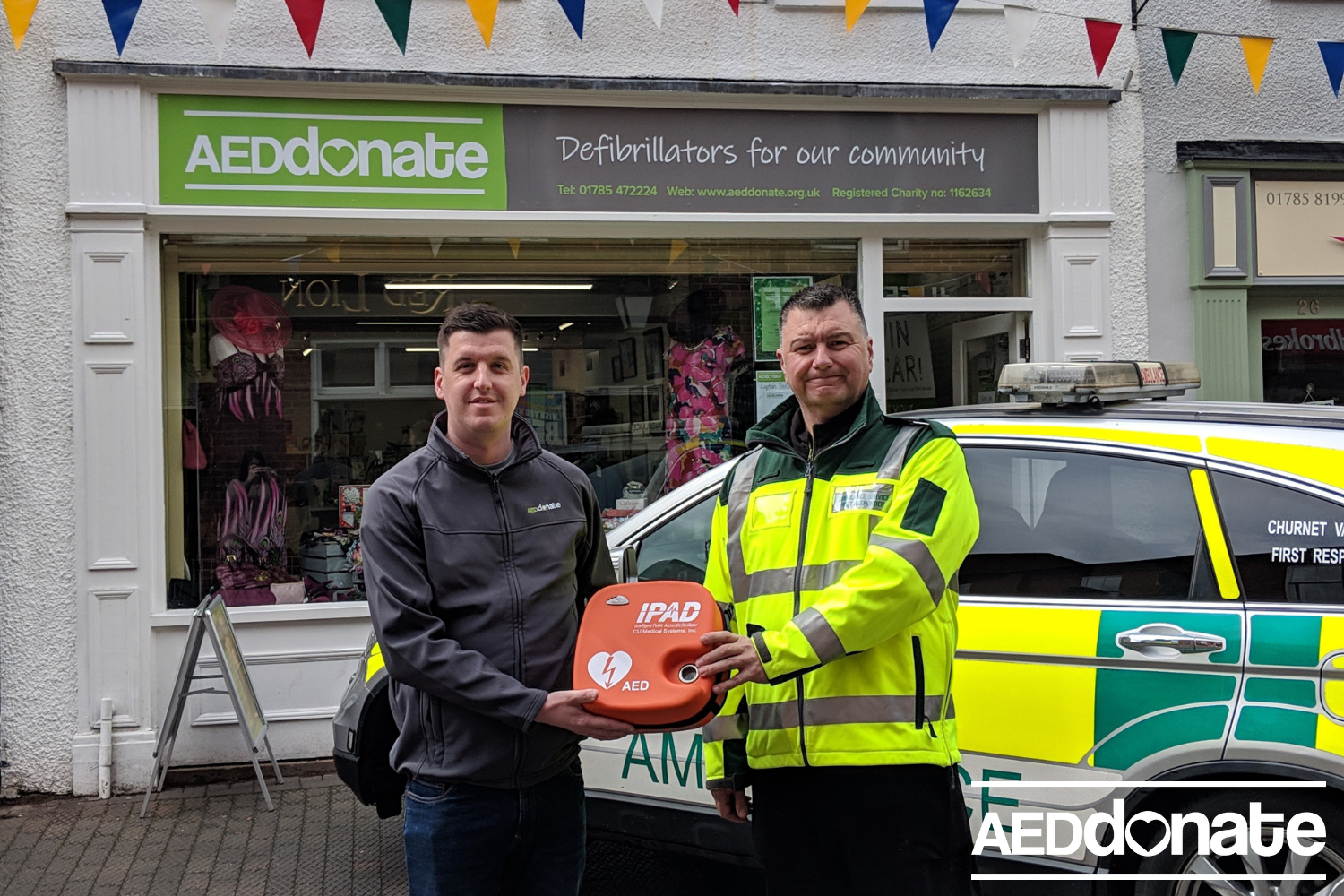 AEDdonate Charity Shop supports local first responder group