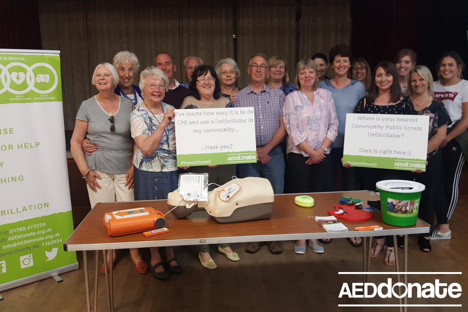 Defibrillator training for Stanton Village