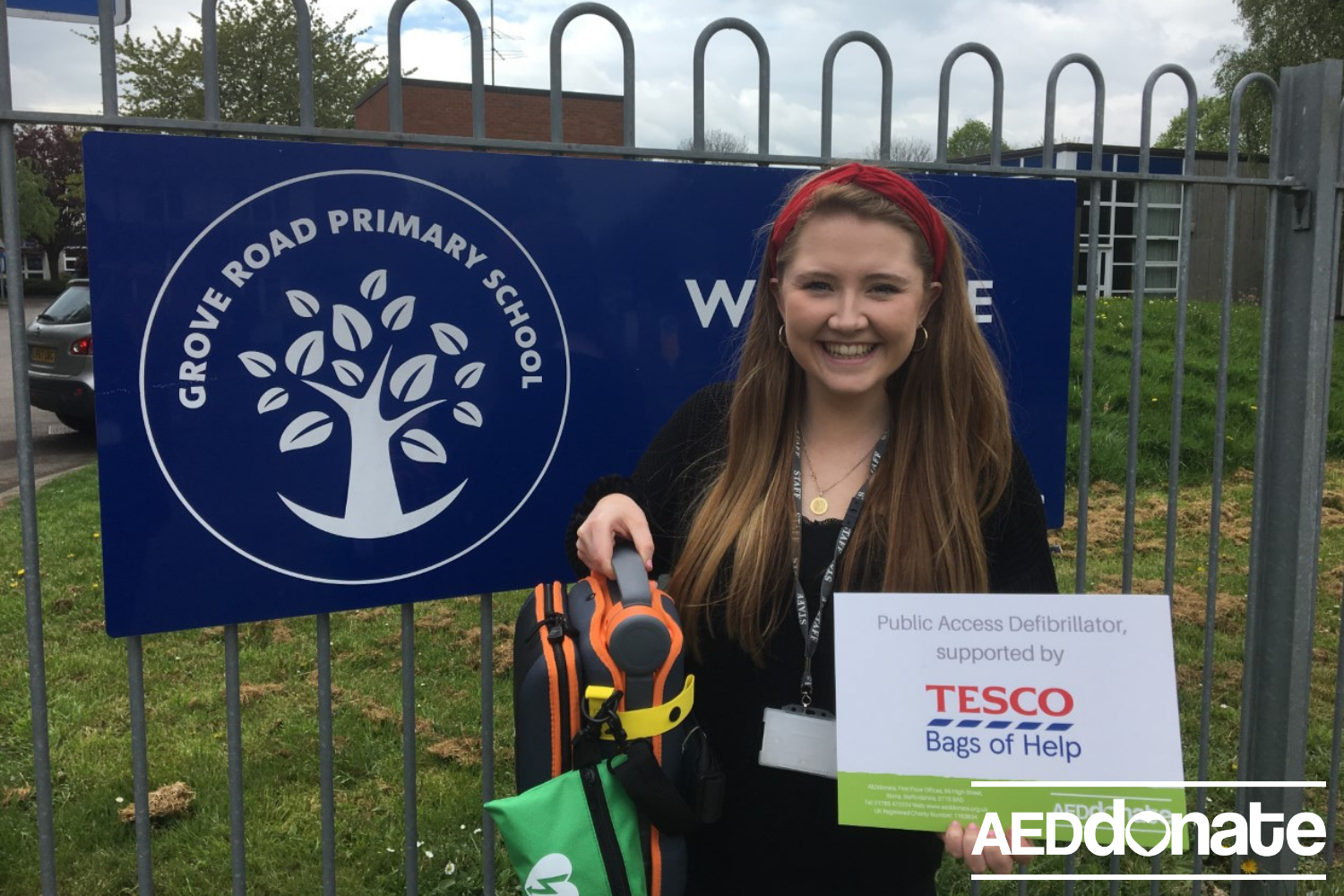 Defibrillator for Grove Road Primary School