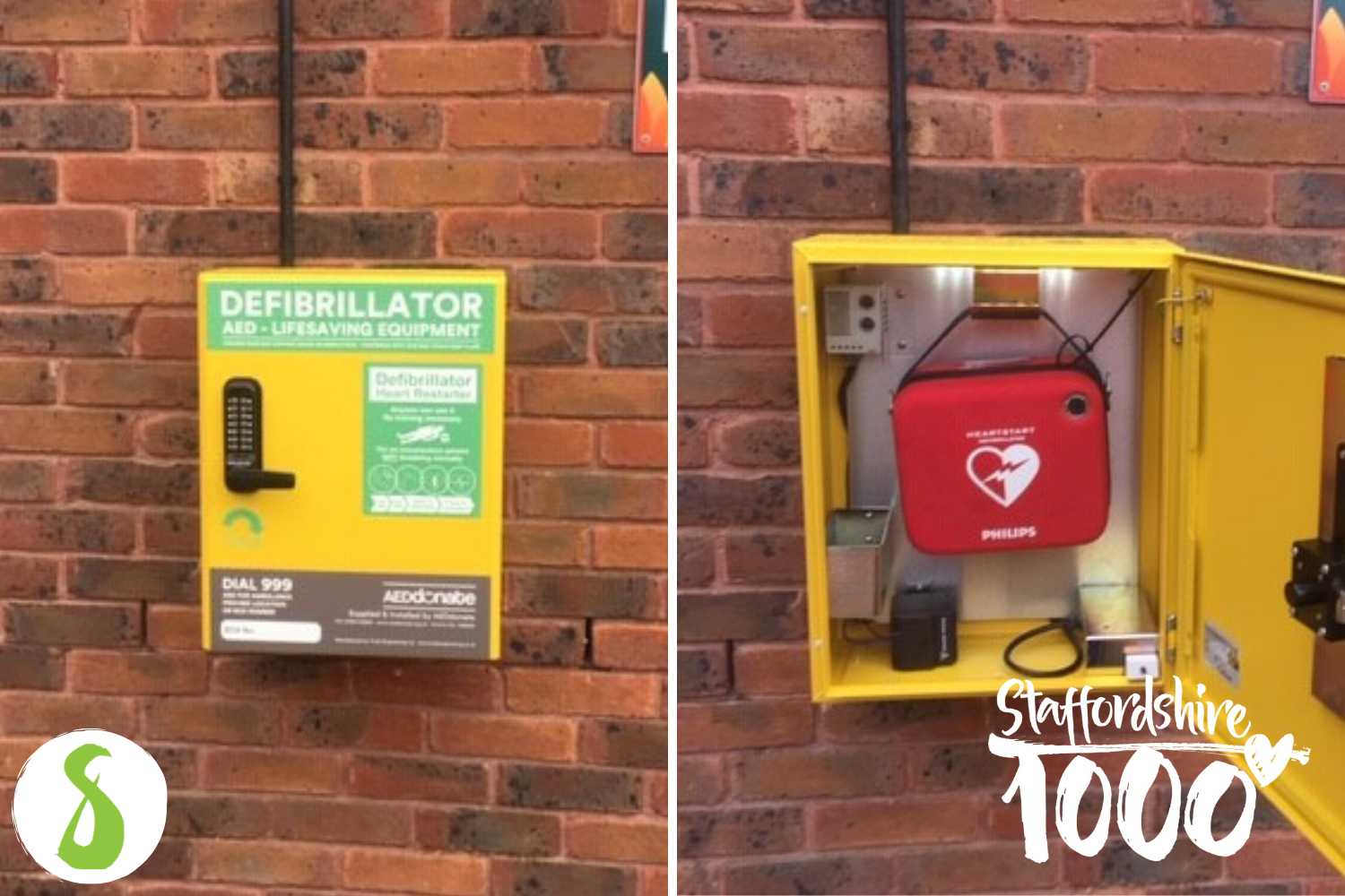 External defibrillator for Yarnfield Park Training and Conference Centre
