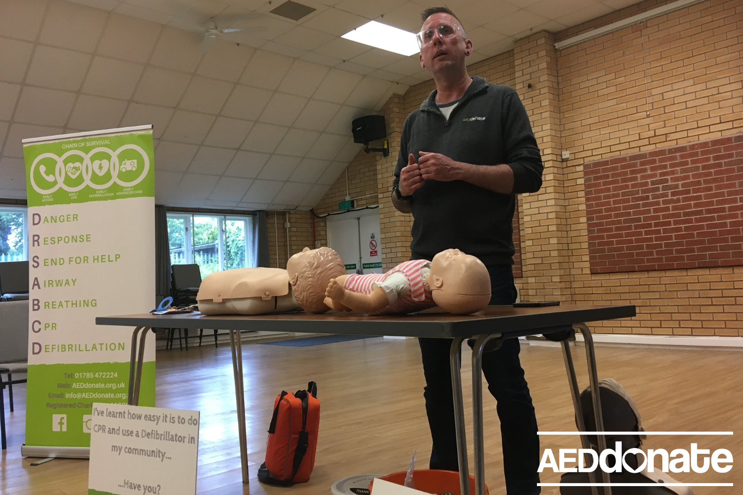 Defibrillator awareness session for Meir