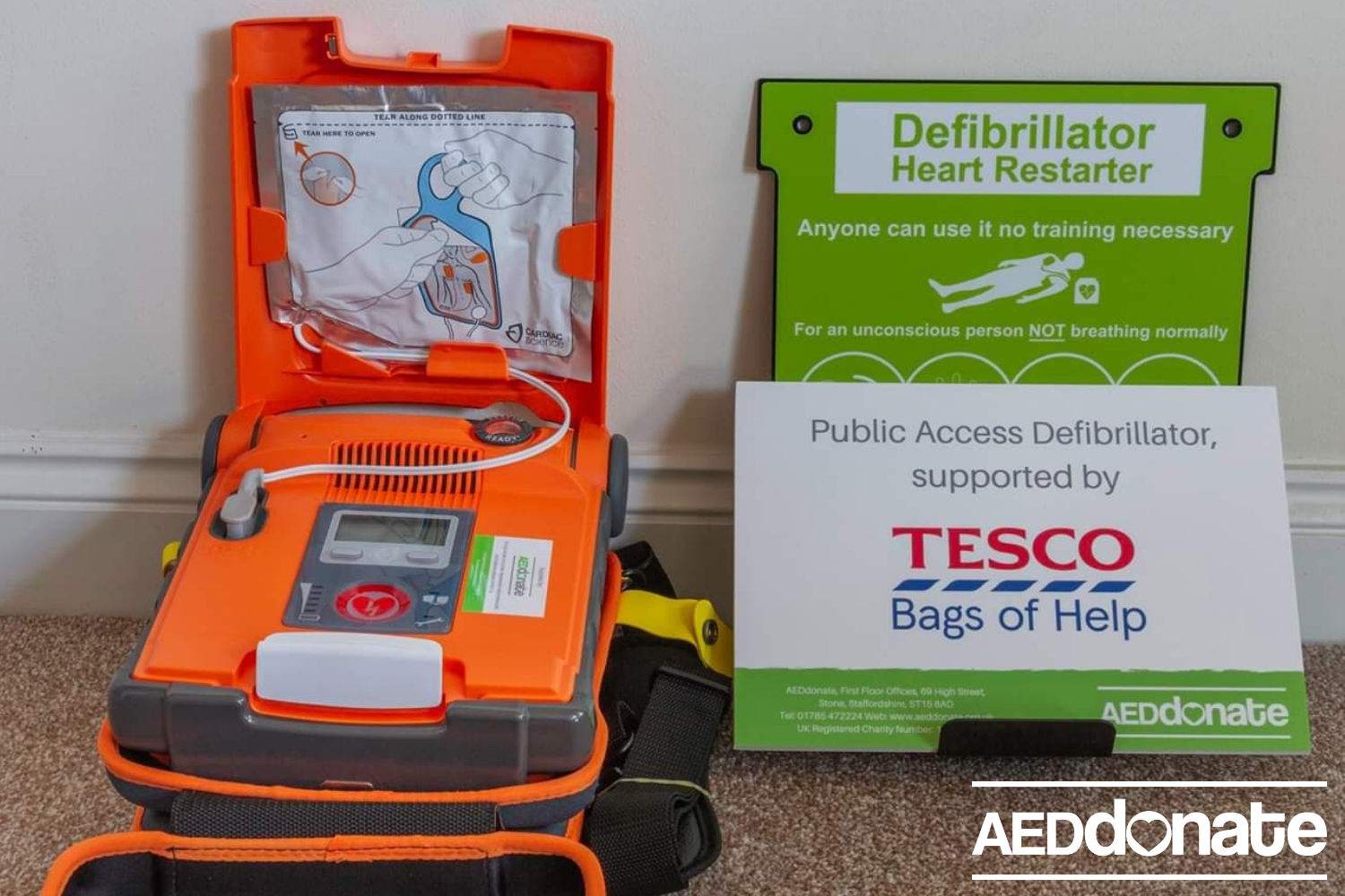 Defibrillator for Newquay Cricket Club