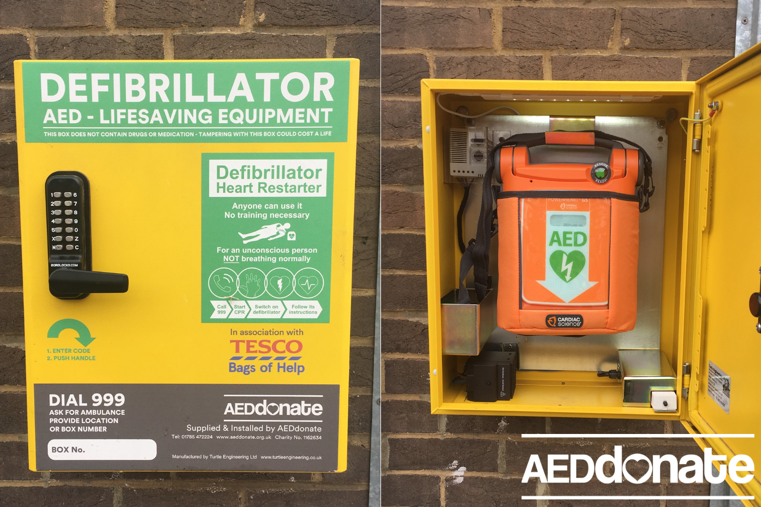 Defibrillator available 24/7 for Borehamwood