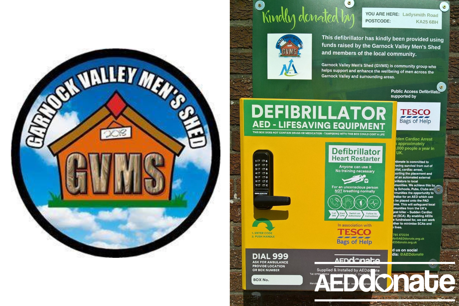 Defibrillator for Garnock Valley Men's Shed