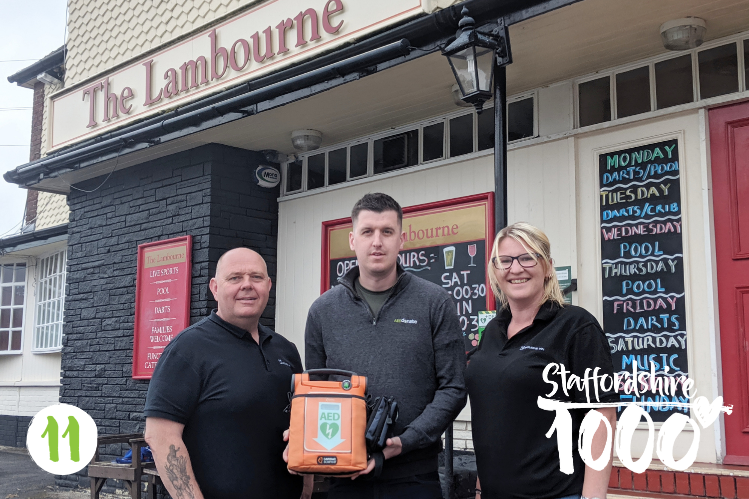 Defibrillator installed at The Lambourne Inn