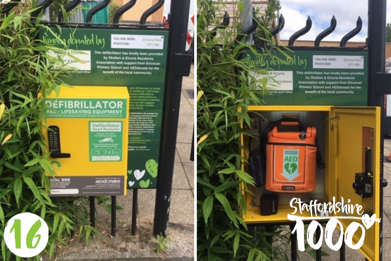 Defibrillator installed in Etruria