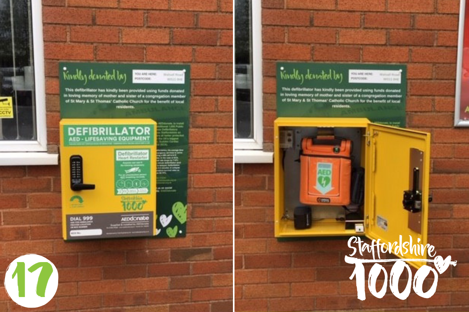 Defibrillator donated in loving memory