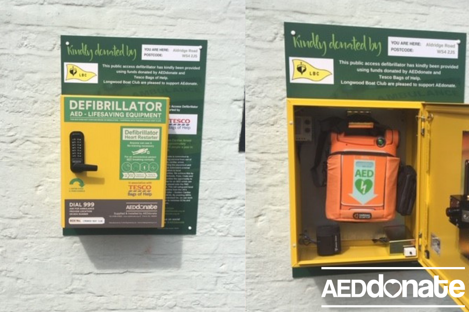 A defibrillator for Longwood Boat Club