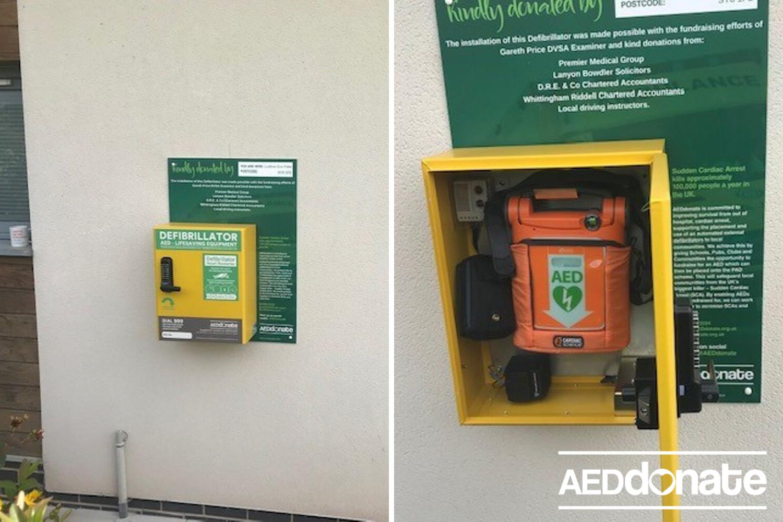 Ludlow DVSA install community defibrillator