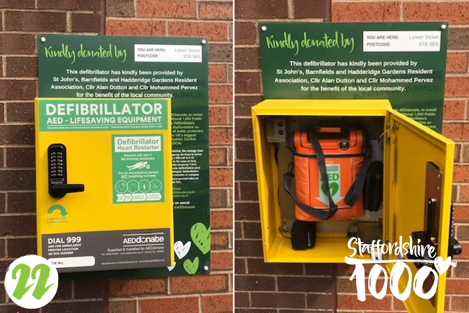 A new defibrillator site has gone live in Burslem