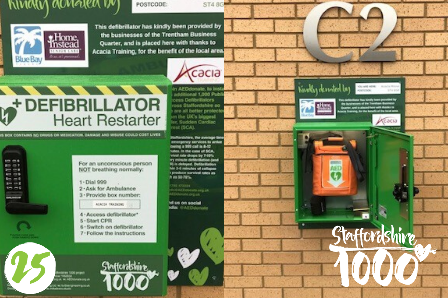 Defibrillator now available 24/7 at Acacia Training