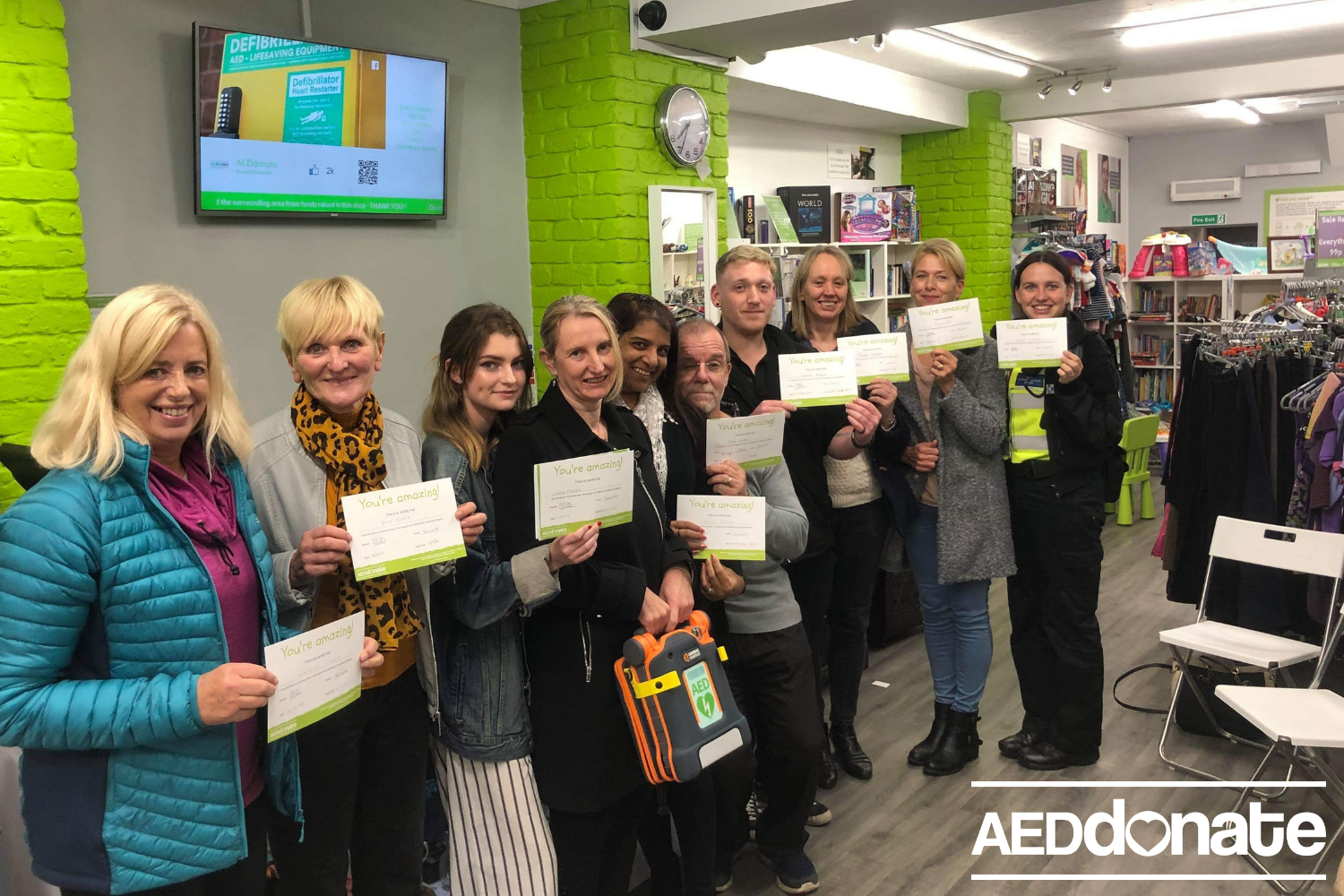 Defibrillator awareness session at AEDdonate Charity Shop
