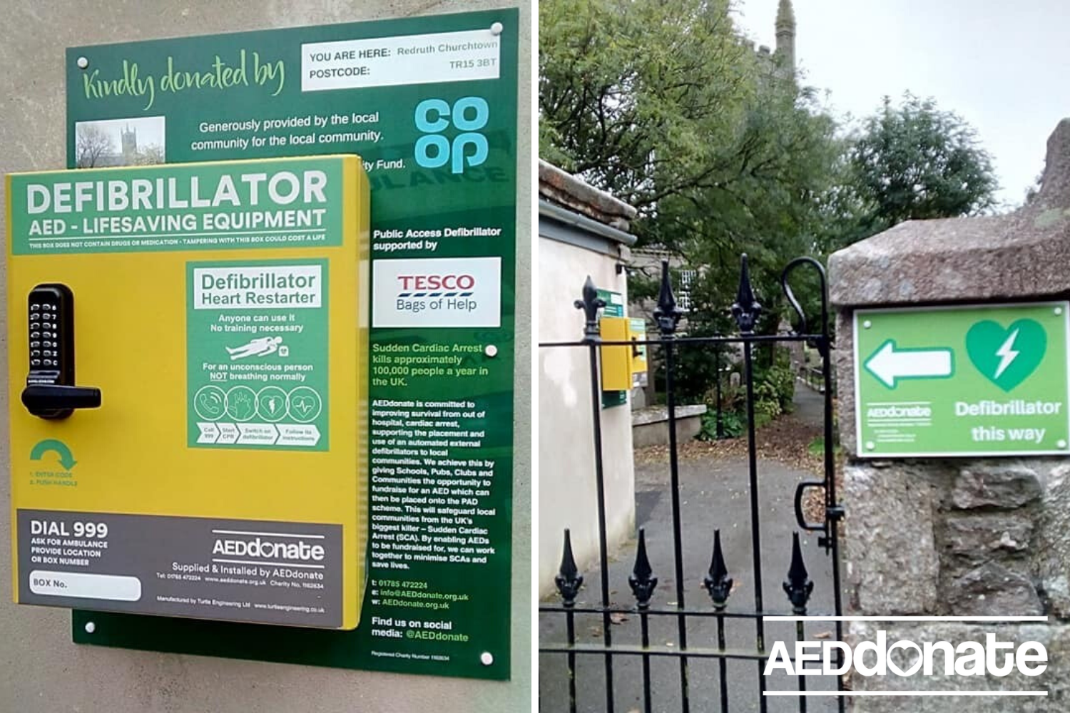 Defibrillator installed at St Euny Church, Redruth