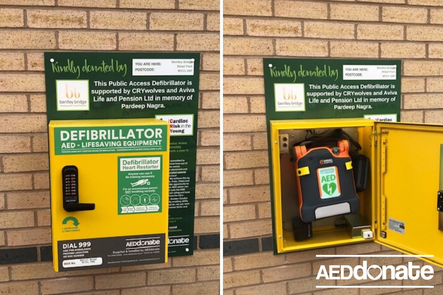 Defibrillator for Bentley Bridge
