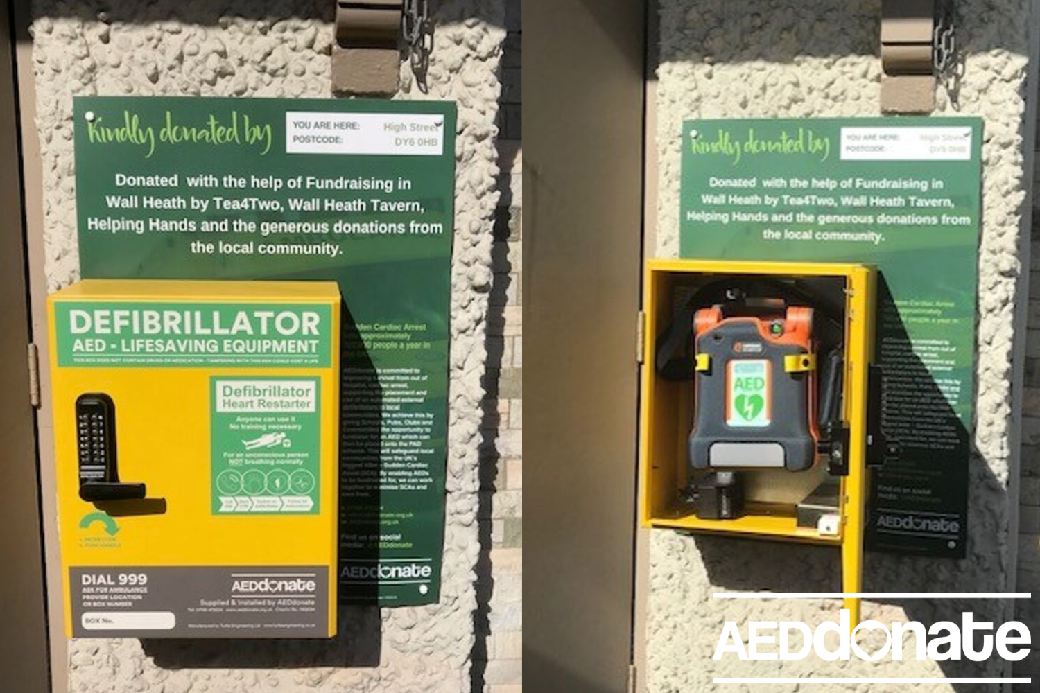 Defibrillator for Wall Heath