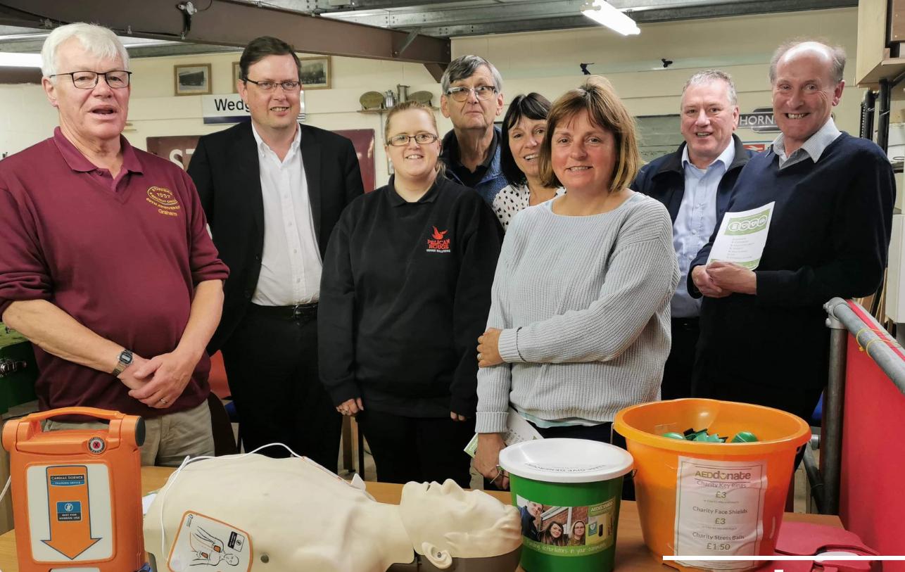Defibrillator training for Stafford Railway Circle